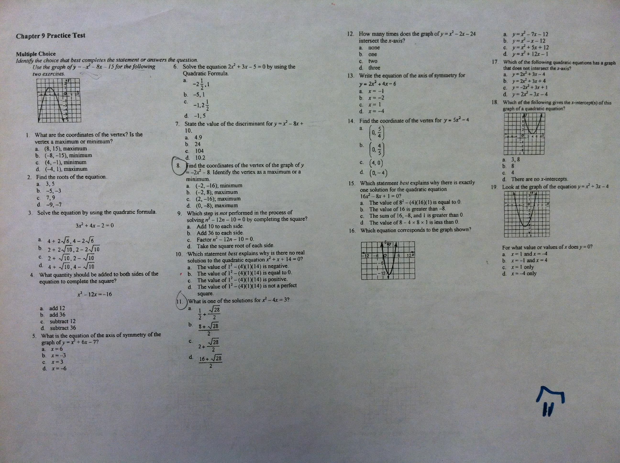 Algebra 1B Period 4 I 3 Math – Practice 5-4 Factoring Quadratic Expressions Worksheet Answers